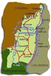 Epworth - Isle of Axholme area map