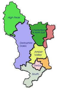 Derbyshire Equestrian - Derbyshire Map