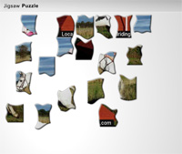 equestrian jigsaw puzzle icon