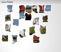 equestrian jigsaw puzzle icon