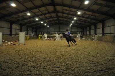The indoor school at Anglesey Riding Centre