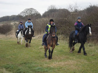 Calder Farm. Riding out on a hack
