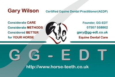 Gary Wilson - Certified Equine Dentist