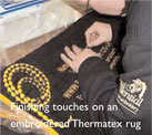 Equestrian Embroidery Services at work