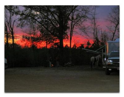 Sunset on the KC Ranch Horse Camp and Trail Rides