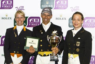 Anky van Grunsven, Steffen Peters and Isabell Werth at the World Cup Final in Las Vegas