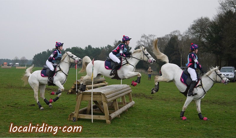 Jumping a Cross Country Table Obstacle