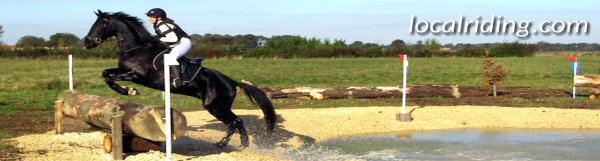 Equestrian Eventing Cross Country Phase - Water Obstacle