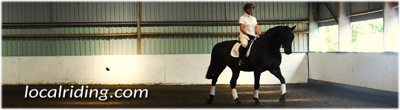 Equestrian Eventing Dressage Phase Warmup