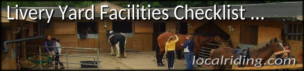Livery Yard Facilities Checklist