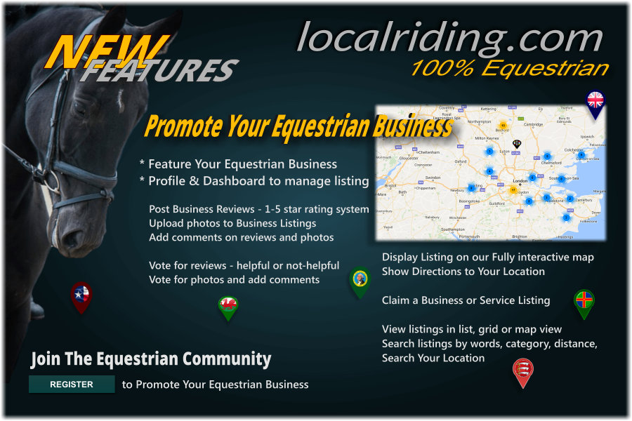 Local Riding Equestrian Community - New Features