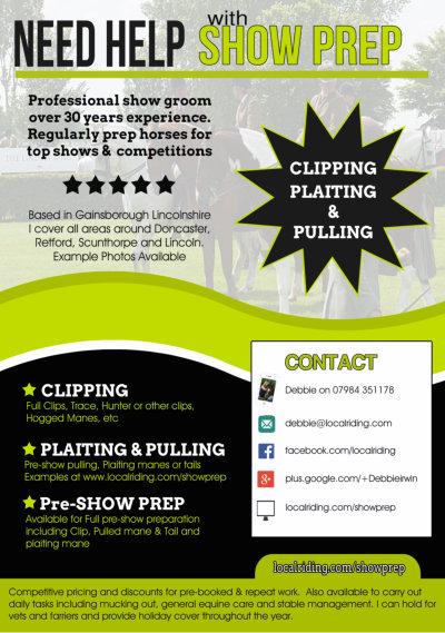 Professional Groom Show Prep - Promo Leaflet 090616