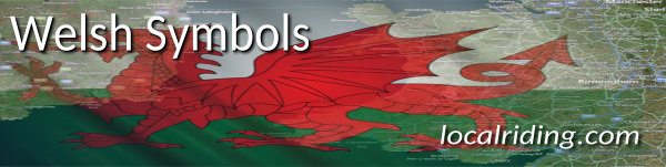 The flag of Wales - The red dragon is only one of the potent Welsh symbols