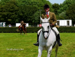 Charles le Moignan Winning at Lincolnshire Show on Vincent