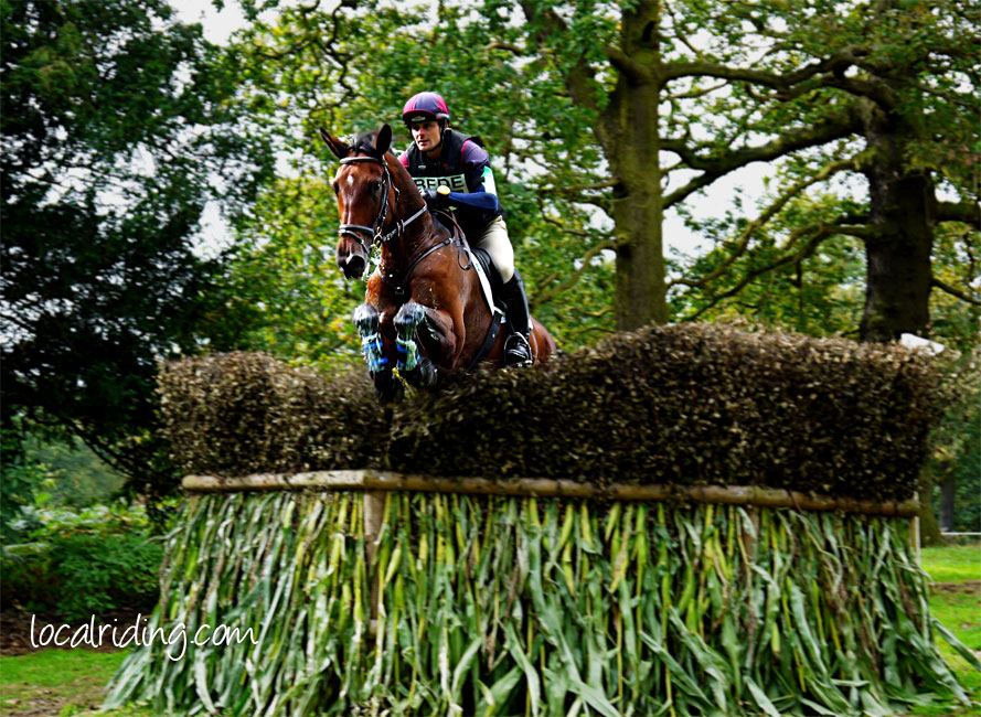 Jumping a Brush and Drop at Osberton Horse Trials