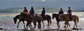 Horse Riding in Anglesey - riders on beach